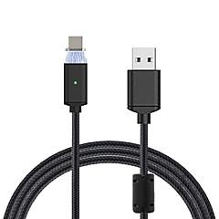 C típus Fonott Mágneses Kábel Kompatibilitás Samsung Huawei Nokia HTC LG Lenovo Xiaomi