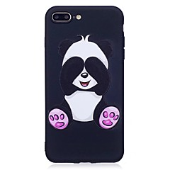 Til iphone 7 plus 6 plus 6s se 5s 5 case cover panda mønster relief tilbage cover soft tpu