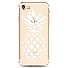 Til apple iphone 7 7 plus 6s 6 plus case cover ananas mønster malet høj penetration tpu materiale blødt tilfælde telefon sag