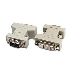 DVI Adapter, DVI to VGA Adapter Hann - hunn 720p Nikkelbelagt stål 800 Mbps.