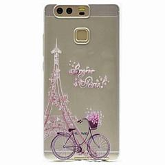 Kompatibilitás tokok Minta Hátlap Case Eiffel torony Puha Hőre lágyuló poliuretán mert HuaweiHuawei P9 Huawei P9 Lite Huawei P8 Huawei P8