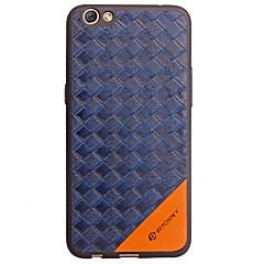 Case voor oppo r9s case cover reliëf achterhoes hoesje geometrisch patroon zacht pu leer