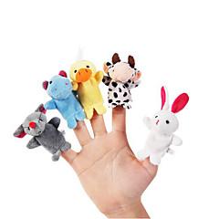 10pcs set karikatür hayvan peluş parmak kuklalar çocuklar konuşmak pervane çocuklar orman lehine bebek