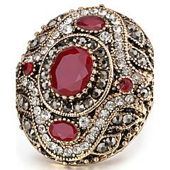 Dames Statementringen Ring Kristal Basisontwerp Uniek ontwerp Bergkristallen Vintage Bohemia Style PERSGepersonaliseerd Euramerican Turks