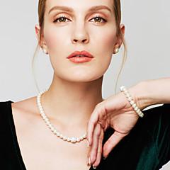 Dames Sieraden Set Armbanden met ketting en sluiting Strengkettingen Parelketting Cirkelvorm Sieraden Parel Gesimuleerde diamantModieus