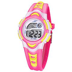 Męskie Dziewczyny Sportowy Zegarek cyfrowy Cyfrowe Wodoszczelny Srebrzysty Guma Pasmo Wielokoloroe