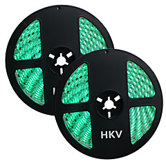 HKV® 1PCS 10M(2x5M) 72W 300LED 5050SMD Waterproof Normal Brightness Flexible LED Light Bar Strip (DC 12V)