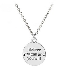 Couple's Pendant Necklaces Chain Necklaces Jewelry Round Alloy Circle Jewelry For Other Gift Casual