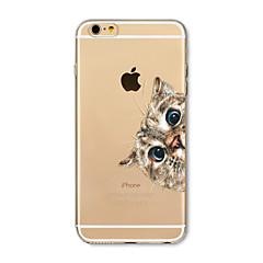 Taske til iphone 7 plus 7 cover gennemsigtigt mønster bagcover case kat blomst soft tpu til iphone 6s plus 6 plus 6s 6 se 5s 5c 5 4s 4