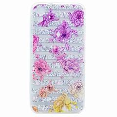 Para htc desejo 626 capa capa transparente padrão tampa traseira caso flor suave tpu caso