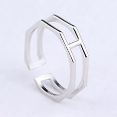 Damskie Pierscionek Biżuteria Unikalny Geometryczny Srebro standardowe Geometric Shape Biżuteria Na Urodziny Codzienny Casual