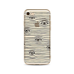 Hoesje voor iphone 7 plus 7 hoesje transparant patroon achterhoes hoesjes / golven ogen soft tpu voor iphone 6s plus 6 plus 6s 6 se 5s 5c