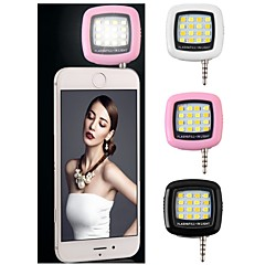 LED Selfie Flash Lamp Rechargeable Flash Fill-in Light 3.5mm Jack Plug Selfie Light LED Night Using Pocket Spotlight