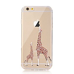 Para iPhone X iPhone 8 Case Tampa Transparente Estampada Capa Traseira Capinha Brincadeira Com Logo da Apple Animal Macia PUT para Apple