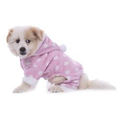 Hund Pyjamas Hundetøj Afslappet/Hverdag Prikket Blå Lys pink