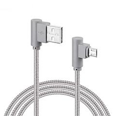 Micro USB Flettet Hurtig opladning Kabel Til Samsung Huawei Sony LG Lenovo Xiaomi cm Nylon