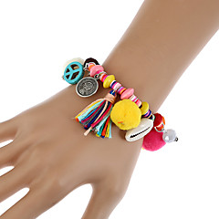 Dames Armbanden met ketting en sluiting Bedelarmbanden Wikkelarmbanden Vintage Bohemia Style Turks Hars Legering Geometrische vorm