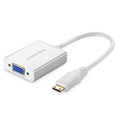 UGREEN Mini HDMI Adapter, Mini HDMI to VGA 3,5 mm-es audio jack Adapter Papa - Mama