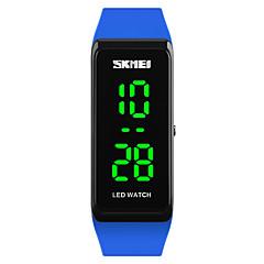 SKMEI Dames Sporthorloge Modieus horloge Polshorloge Digitaal horloge Japans Digitaal LED Kalender Waterbestendig Lichtgevend PU Band Cool