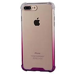 Kompatibilitás iPhone 8 iPhone 8 Plus tokok Ütésálló Átlátszó Hátlap Case Színátmenet Puha PC mert Apple iPhone 8 Plus iPhone 8 iPhone 7