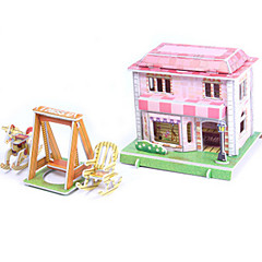 puzzle-uri Kit Lucru Manual Puzzle 3D Blocuri de pereti DIY Jucarii Casă Arhitectură