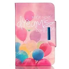 Til Samsung Galaxy Tab en 9,7 fan e 9.6 cover cover balloon mønster pu hud materiale samsung flad beskyttende shell tab en 8,0 fan 3 lite