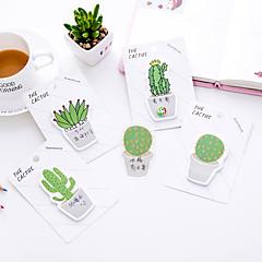 1 db kaktusz öntapadós jegyzet 30 oldal (véletlenszerű szín)