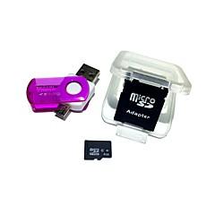 4GB microSDHC karta pamięci z 2 na 1 USB usb czytnik kart micro usb otg