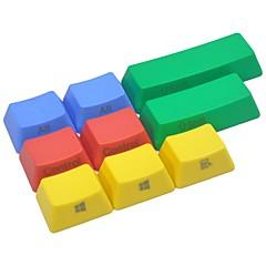 9 toetsen met kleurrijke keycap set voor mechanische toetsenbordzijde afgedrukt