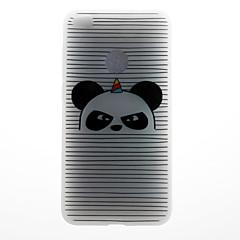 Θήκη για huawei p8 lite (2017) p10 περίπτωση κάλυψη λωρίδα panda 3d ανακούφιση γάλα tpu υλικό θήκη για huawei p10 lite p10 plus