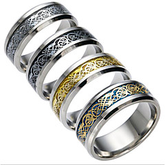 Męskie Damskie Pierścionki dla par Cyrkonia biżuteria kostiumowa Modny Stal tytanowa Biżuteria Biżuteria Na Codzienny