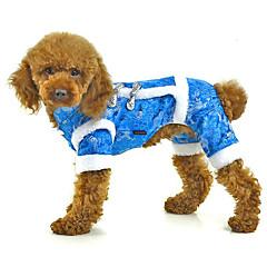 Σκύλος Φόρμες Ρούχα για σκύλους Καθημερινά Κεντητό Κόκκινο Μπλε Ροζ
