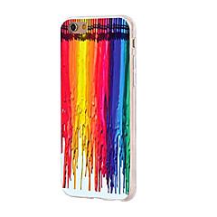 Etui til iPhone 7 6 farvegradient tpu blødt ultra-tyndt bagside cover cover iphone 7 plus 6 6s plus se 5s 5 5c 4s 4