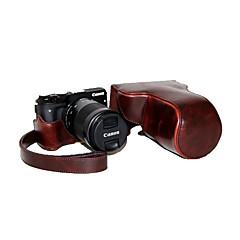 CANON EOS의 M3의 EOS-M3를위한 어깨 끈과 dengpin PU 가죽 분리형 카메라 케이스 가방 커버 (모듬 색상)