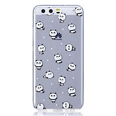 Taske til huawei p8 lite (2017) p10 cover til cover panda mønster høj transparent tpu materiale anti-rids telefon taske til huawei p10