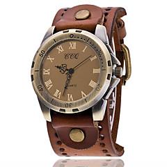 Heren Modieus horloge Armbandhorloge Unieke creatieve horloge Vrijetijdshorloge Chinees Kwarts Leer Band Vintage Vrijetijdsschoenen