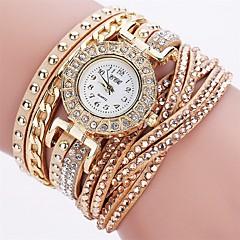 Damskie Modny Sztuczny Diamant Zegarek Zegarek na bransoletce Unikalne Kreatywne Watch Na codzień Chiński Kwarcowy sztuczna Diament PU