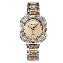 Męskie Damskie Sztuczny Diamant Zegarek Zegarek Pave Kwarcowy Stop Pasmo Błyszczące Srebro Złoty