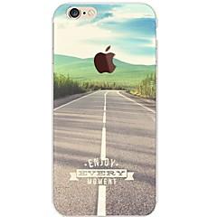 Käyttötarkoitus iPhone 7 iPhone 7 Plus kotelot kuoret Ultraohut Läpinäkyvä Kuvio Takakuori Etui city View Pehmeä TPU varten Apple