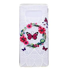 na obudowę obudowy ultra cienka obudowa pokrywa tylna obudowa motyl kwiat miękki tpu dla note samsung 8 uwaga 5 krawędź note 5 note 4 note