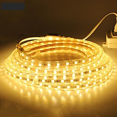 18m / 1pcs 220v 5050 leidde flexibele tape rope strip licht xmas buiten waterdicht tuin outdoor lightingeu stekker eu