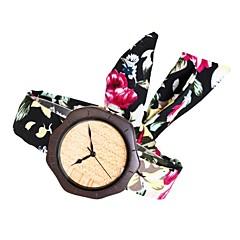Naisten Muotikello Kello Wood Japani Quartz puinen Kangas Bändi Amuletti Luova Tyylikäs Musta Rose