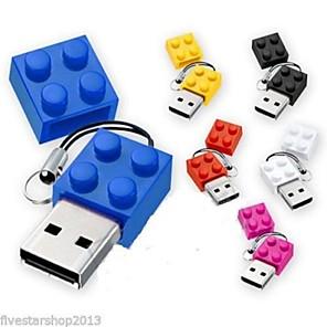 2 GB στικάκι usb δίσκο USB 2.0 Πλαστική Ïλη ΚινοÏμενα σχέδια ΜικÏÏŒ Μέγεθος brick