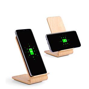 10w snelle draadloze oplader houten beugel voor iphone xs iphone xr xs max iphone 8 samsung s9 plus s8 notitie 8 of ingebouwde qi-ontvanger slimme telefoon