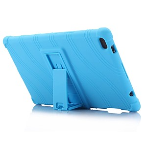 modello con motivo a onde copertura in gel con custodia in gel di silicone con supporto per scheda lenovo 4 8 (tb-8504) tablet pc da 8,0