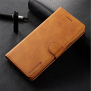 Custodia Per Samsung Galaxy S9 Plus / S9 A portafoglio / Porta-carte di credito / Con chiusura magnetica Integrale Tinta unita Resistente vera pelle per S9 / S9 Plus / S8 Plus