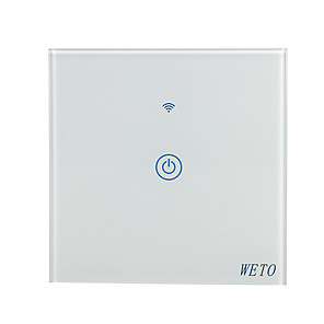 weto w-t11 eu / us / cn 1 bende wifi smart wandschakelaar touch sensor schakelaar smart home afstandsbediening werkt met alexa google naar huis via smartphone