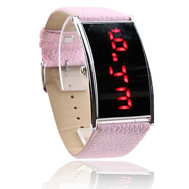women s led digital pink pu band wrist cool
