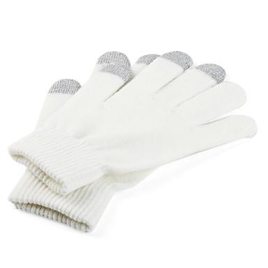 fibras acrílicas guantes de pantalla táctil para el iPhone y el IPAD (blanco y gris)