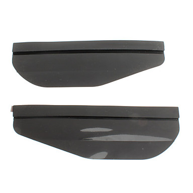Car Rear View Mirror Rain Cover Eyebrows Shield (2-Piece)